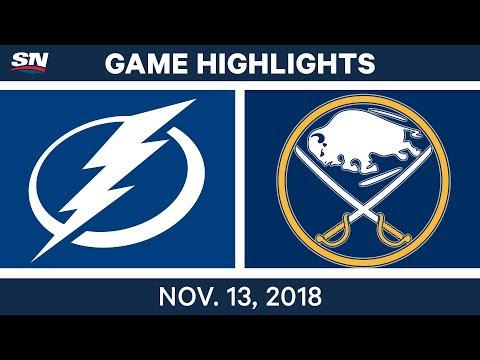 NHL Highlights | Lightning vs. Sabres – Nov. 13, 2018