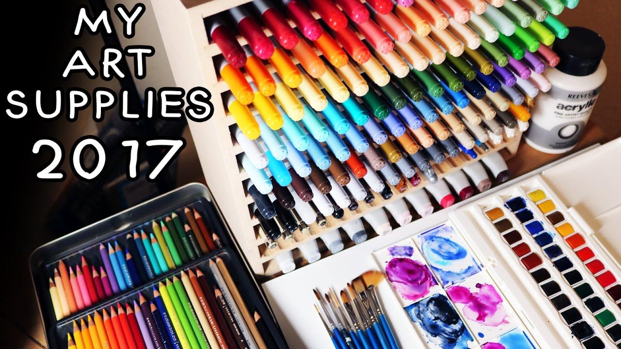 My Art Supplies 2017 Youtube