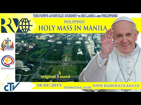 Pope in Philippines - Holy mass - 2015.01.18