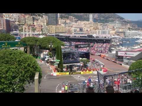 F1 GP Monaco 2017 - Rocher - FIrst lap