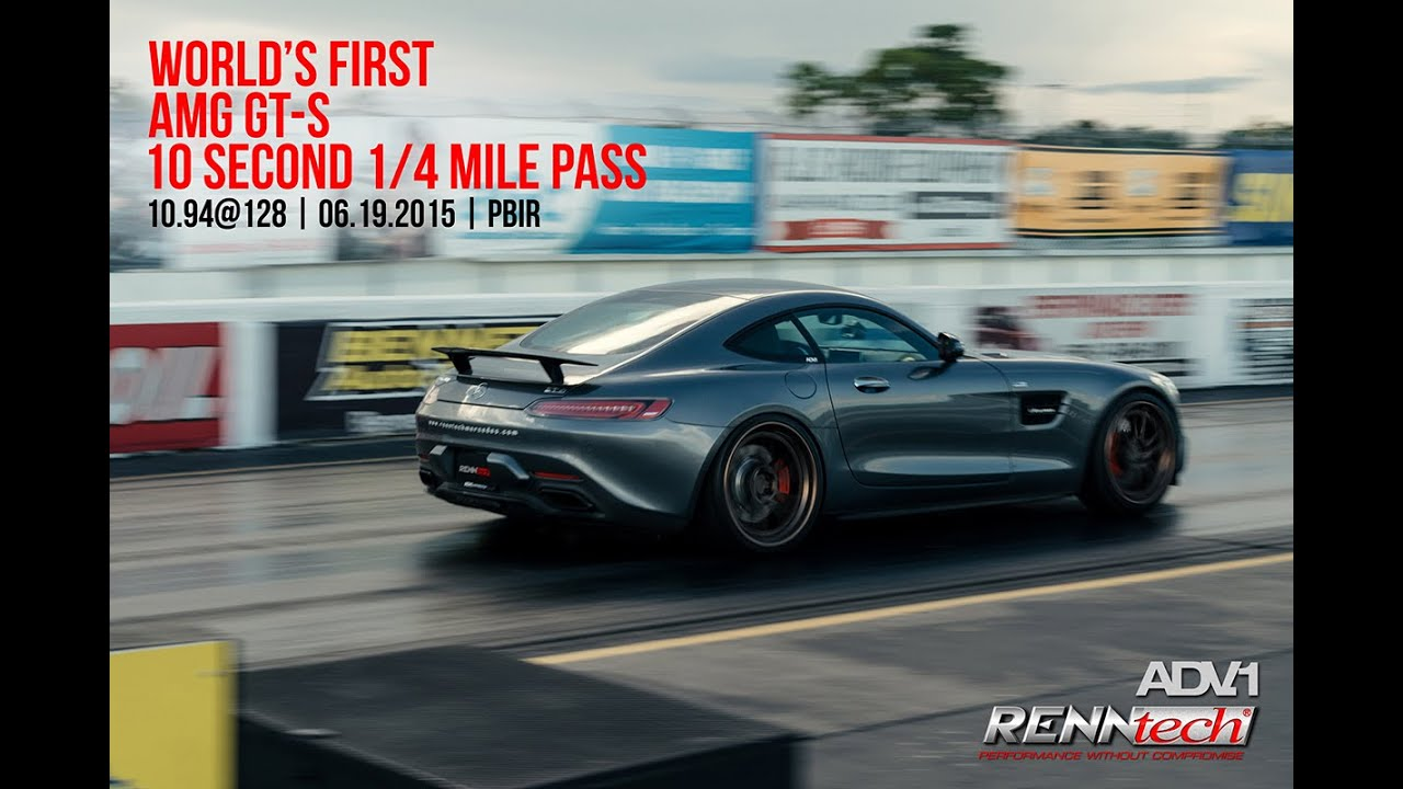 2016 Mercedes Amg Gt S Edition 1 10second Quarter Mile P Renntech Adv1 Wheels