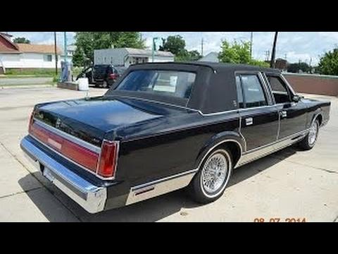1986 Lincoln Town Car for sale triple black, low miles auto ...