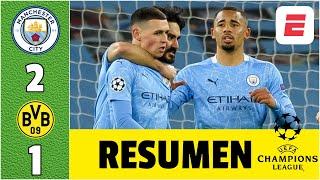 Manchester City 2-1 Dortmund ¡INFARTANTE! Phil Foden RESCATÓ la victoria para Pep | Champions League