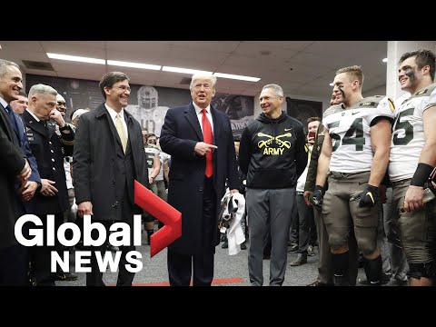 'Can I play today?': Trump gives pep talks ahead of Army-Navy college football game