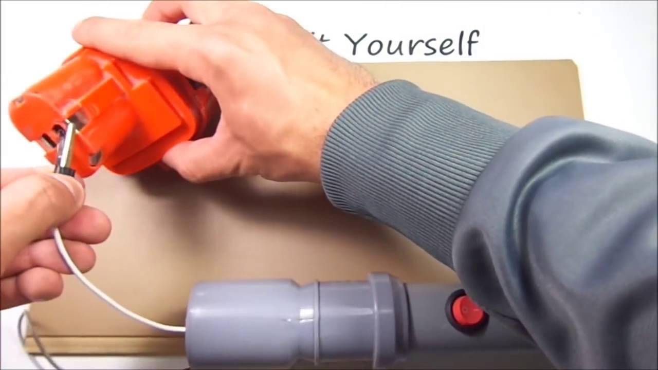 Как сделать электрокосу своими руками