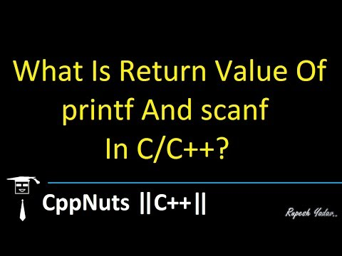 What Is Return Value Of printf And scanf In C/C++?
