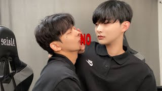SUB) Ignoring my boyfriends kisses all dayㅣ하루종일 남자친구 뽀뽀를 거절하기ㅣ게이커플ㅣKorean gay couple