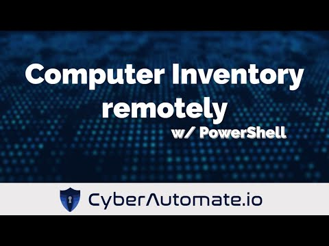 Remote Computer Inventory with PowerShell