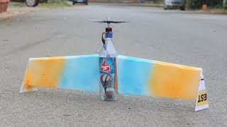 How to Make a airplane - Flying Airplane using Plastic Bottle