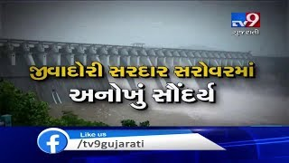 10 Gates Of Narmada Dam Opened After Water Level Reached To 133.32 Meters  Tv9gujaratinews
