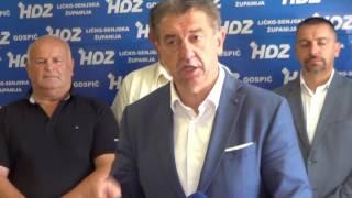 Milinović ubjeđen da je pobijedio/ Snimio Marko Čuljat Lika press