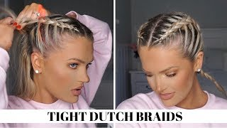 PERFECT, TIGHT DUTCH BRAIDS | Isabel Galvin