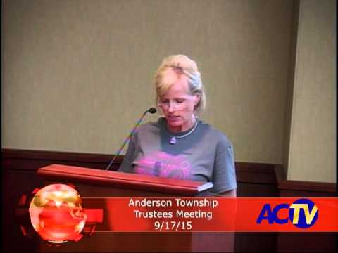 Anderson Township Trustees Meeting 9/17/15