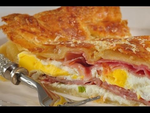Ham and Egg Pie Recipe Demonstration - Joyofbaking.com