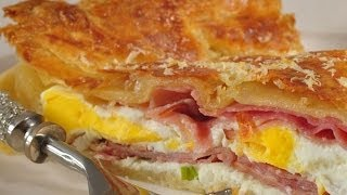 Ham And Egg Pie Recipe Demonstration - Joyofbaking.com