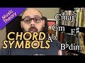 How to Read Chord Symbols in Sheet Music - Music Theory Crash Course