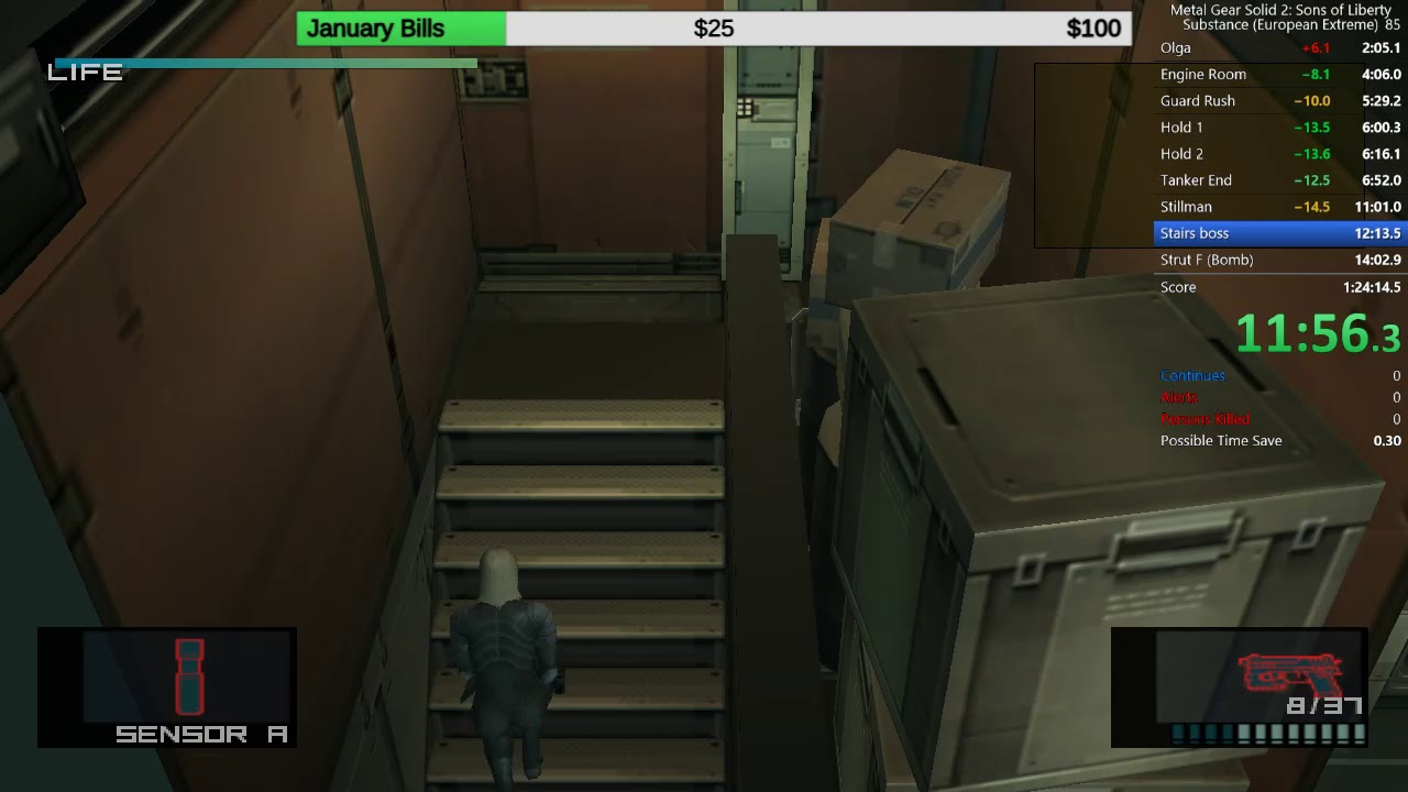 Pc Metal Gear Solid 2 European Extreme In 1 21 51 Big Boss Rank