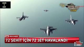 Afrin Harekatı Dünya tarihinin en büyük hava operasyonu