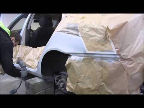 Skoda.  The small body repair. Небольшой ремонт кузова .