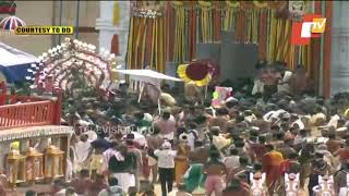 Bahuda Yatra 2020-Lord Jagannath Being Taken To His Chariot For Return Journey