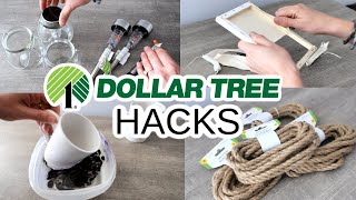 $1 DOLLAR TREE HOME DECOR HACKS that will leave you ? (my favorites that are actually simple!)