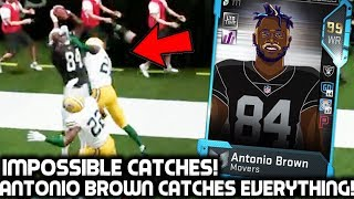 RAIDERS ANTONIO BROWN CATCHES EVERYTHING! HE CAN'T BE GUARDED! Madden 19 Ultimate Team