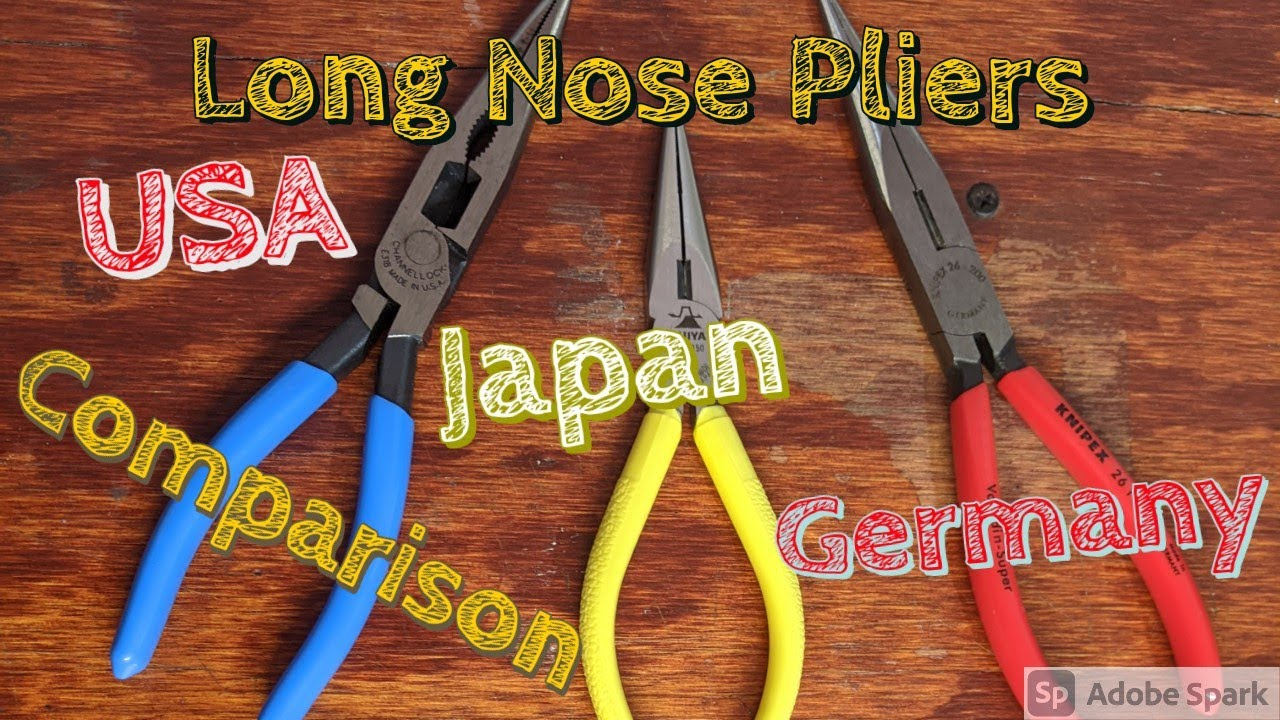 Download All of My Long Nose Pliers Channellock Knipex Fujiya USA Japan Best Affordable Needle Nose Pliers
