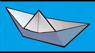 DIY - Как сделать оригами КОРАБЛИК из бумаги А4 своими руками?