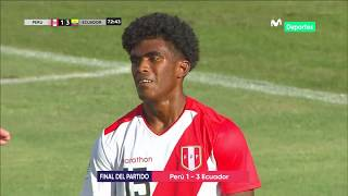 Sudamericano Sub 20: Perú 1-3 Ecuador | RESUMEN Y GOLES DEL PARTIDO