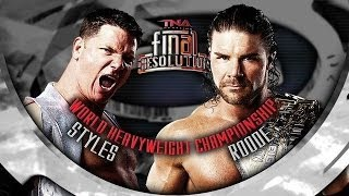 TNA AJ Styles vs. Bobby Roode (Final Resolution 2011) Promo