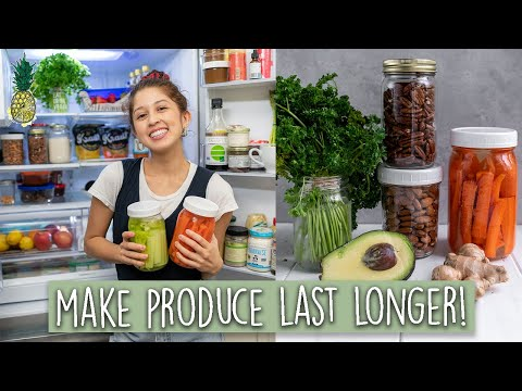 How To Make Produce Last Longer & Reduce Waste ����25+ Tips!