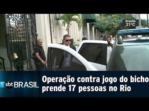Operação contra jogo do bicho prende 17 pessoas no Rio | SBT Brasil (13/08/18)