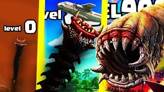 IS THIS THE STRONGEST HIGHEST LEVEL WORM EATER EVOLUTION? (9999+ DESTROY THE WORLD) l Death Worm