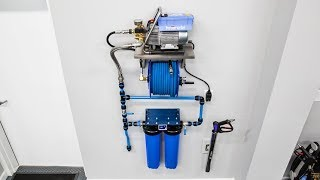 Custom Installed Pressure Washer Solution:  Installation & Operation