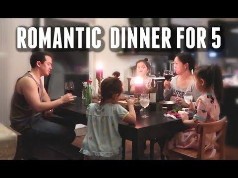 Romantic Non-Vegan Dinner for 5 -  ItsJudysLife Vlogs