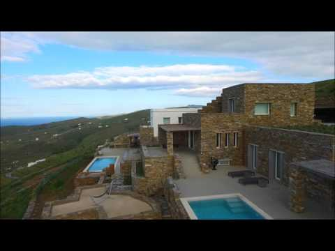 Amolia luxury houses Tinos Greece (HD 1080p)
