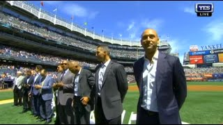 Former Yankees introduced at Posada Day