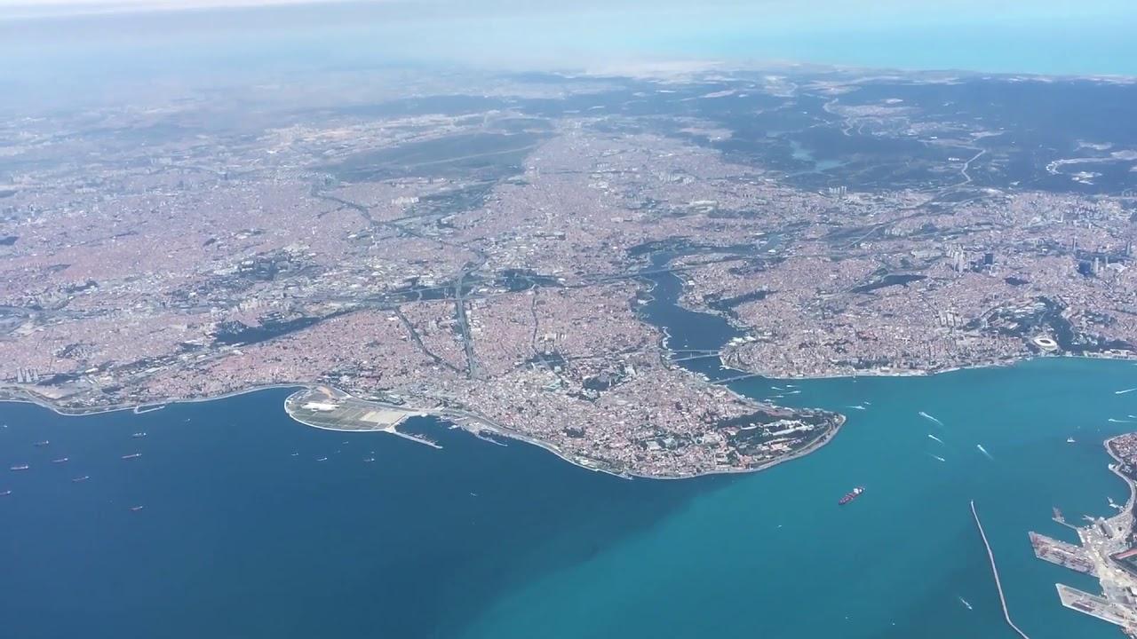 Uçakla İstanbul Boğazı - YouTube