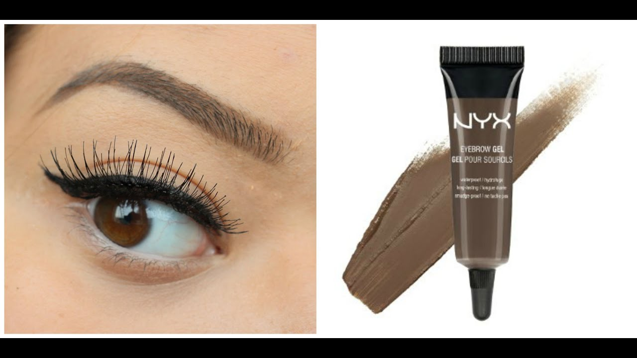 Brown Eye Close Up !!NYX EYEBROW GEL BRUN...