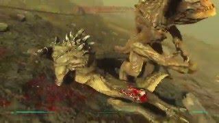 Fallout 4 Ближний бой с когтями смерти, выживание .