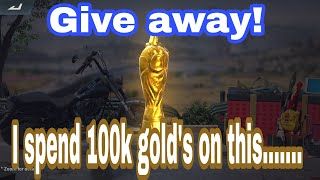 Super chicken cup (crowbar) spending 100K gold  RULES OF SURVIVAL