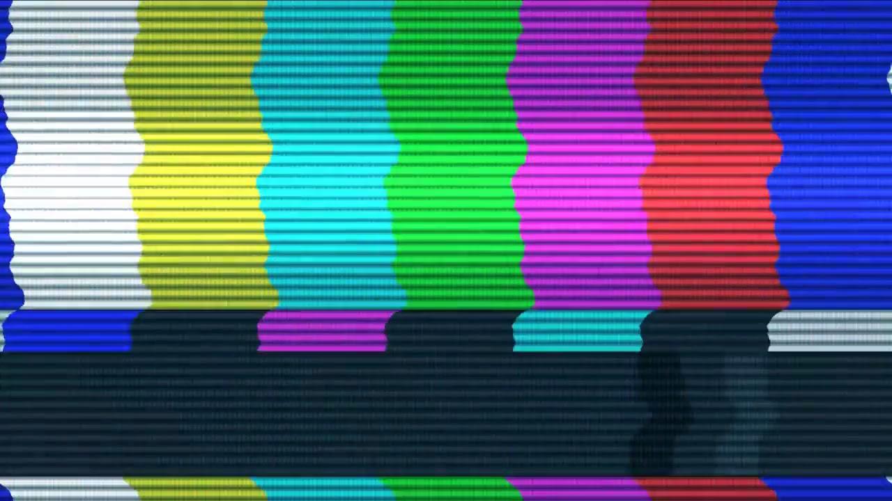 Efecto De Tv Sin Señal. Pantalla Verde.