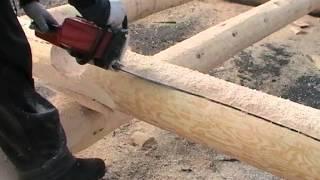 Канадская рубка.  Canadian hand-crafted log cabin. Недорогие срубы в канадку(Срубы из Псковской области: Канадка ( Канадская чаша). http://domlafet.ru Russia log cabin, Russia log house., 2013-04-30T17:16:45.000Z)
