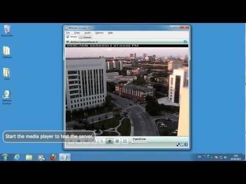 Broadcast Live Media Streams Over Internet/local Network With A Webcam Surveyor Software.