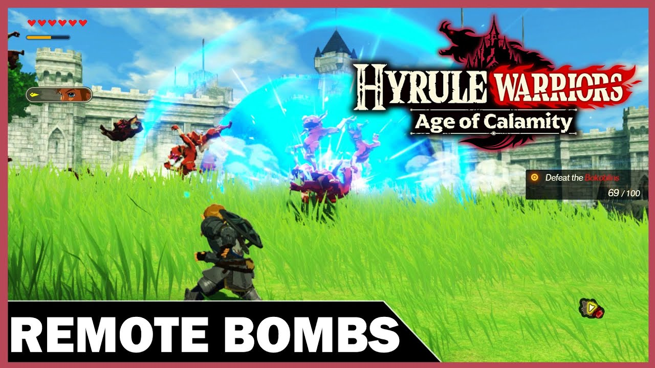 Hyrule Warriors Age Of Calamity Demo Mastering Remote Bombs Youtube