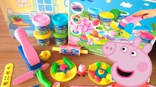 Peppa Pig Mega Dough Fun Factory Set Play Doh Shape Fruits, Vegetables & cupcakes