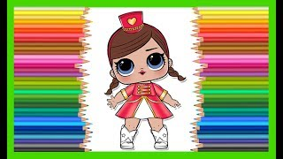Куколка ЛОЛ пупсик LOL coloring Surprise Doll Lil Outrageous Littles Series 1 раскраска Беларусь