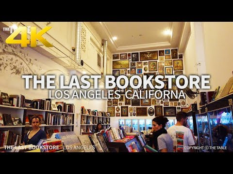 LOS ANGELES - The Last Bookstore, Downtown Los Angeles, California, USA, Travel, 4K UHD