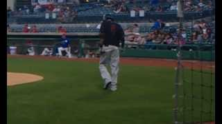 Billy Hamilton - Cincinnati Reds Prospect - Pops Out June 11, 2012