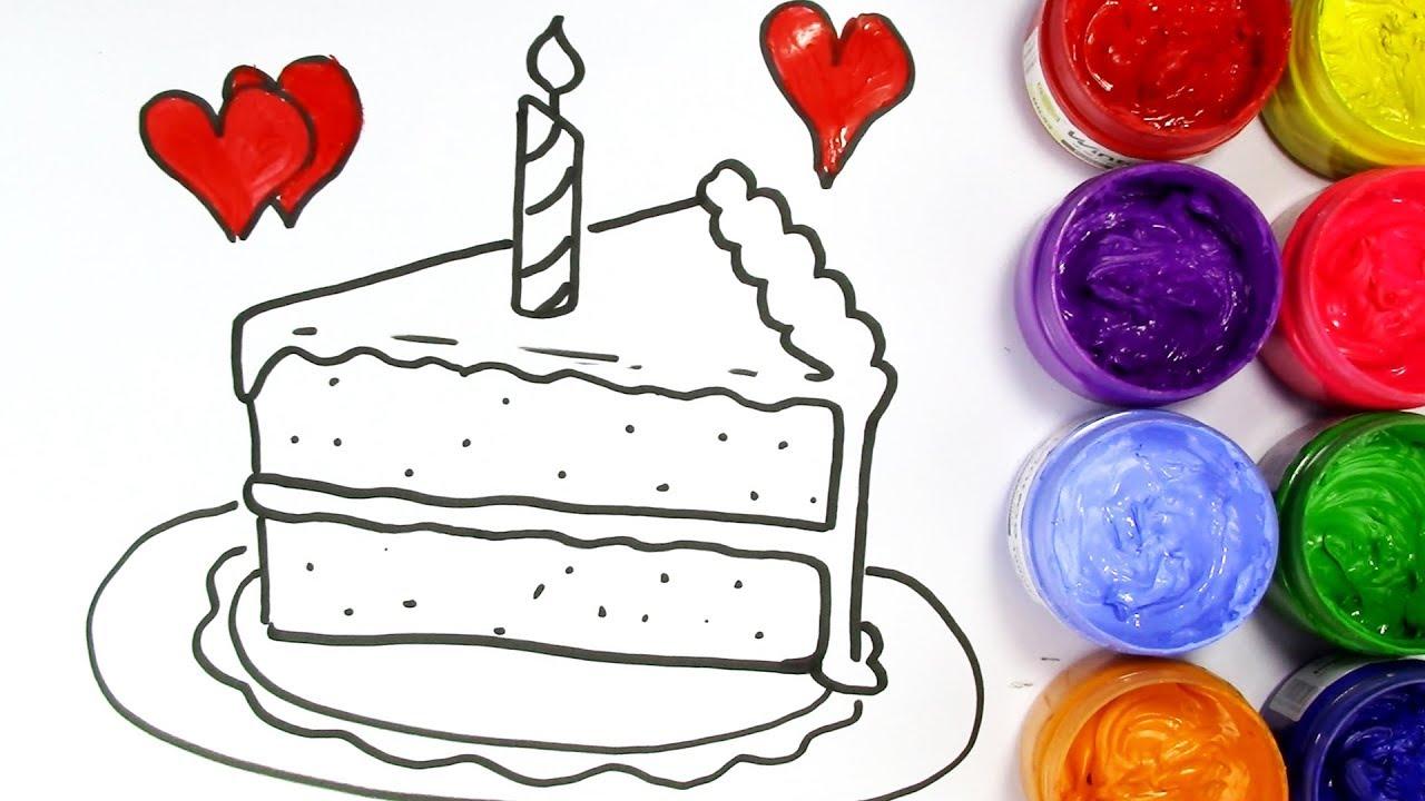 How To Draw A Birthday Cake Slice